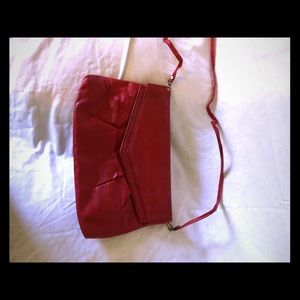 Vintage red handbag from 1980s